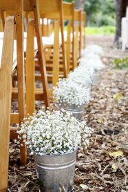 Aisle decor rustic